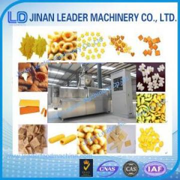 Small scale wheat rice corn puff double screw extruder making machine