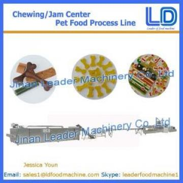 Chewing/jam center pet food making machine