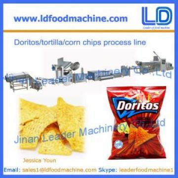Corn chips processing line,Doritos/tortilla snacks food making machinery in China