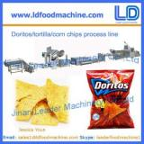 Corn chips processing line,Doritos/tortilla snacks food making machine