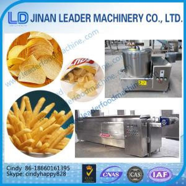 Automatic crispy potato chips potato pellet chips fryer machine #1 image