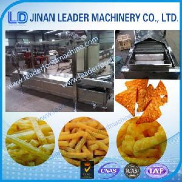 Small scale electric snacks frying food production machinery #1 image