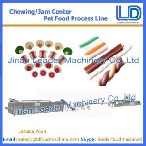Chewing/jam center pet food machinery,Pet food processing line #1 image