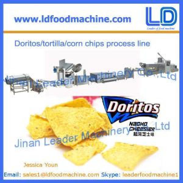 Doritos/tortilla snacks making machine, corn chips processing line #1 image