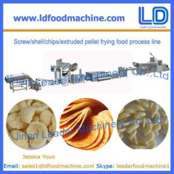 Screw/shell/chips/extruded pellet frying food Production line for sale #1 image